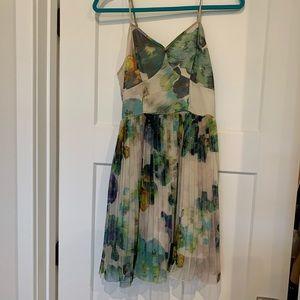 Jack by BB Dakota water color pleated dress